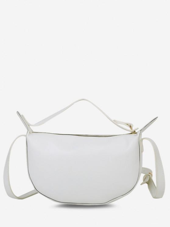 ladies Solid Dual Strap Crossbody Bag - WARM WHITE