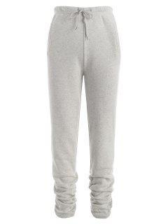 Pantalon Camouflage à Doublure En Laine Avec Poches à Cordon - Gris L