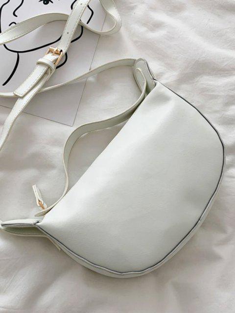 Sac à Bandoulière à Double Bretelle en Couleur Unie - Blanc Chaud  Mobile