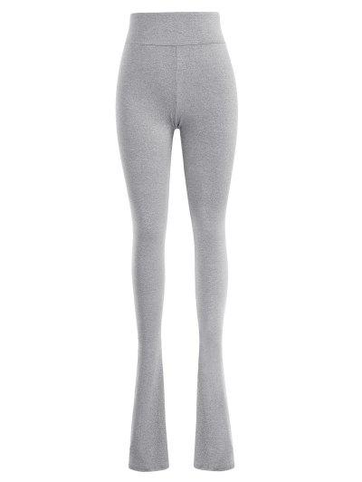 Marled Skinny Jersey Long Stacked Pants - Gray L