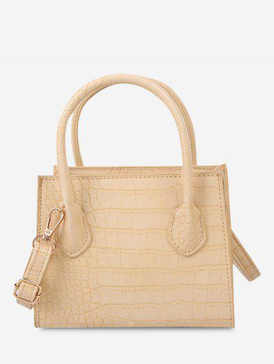 Textured Solid Square Handbag - Sun Yellow