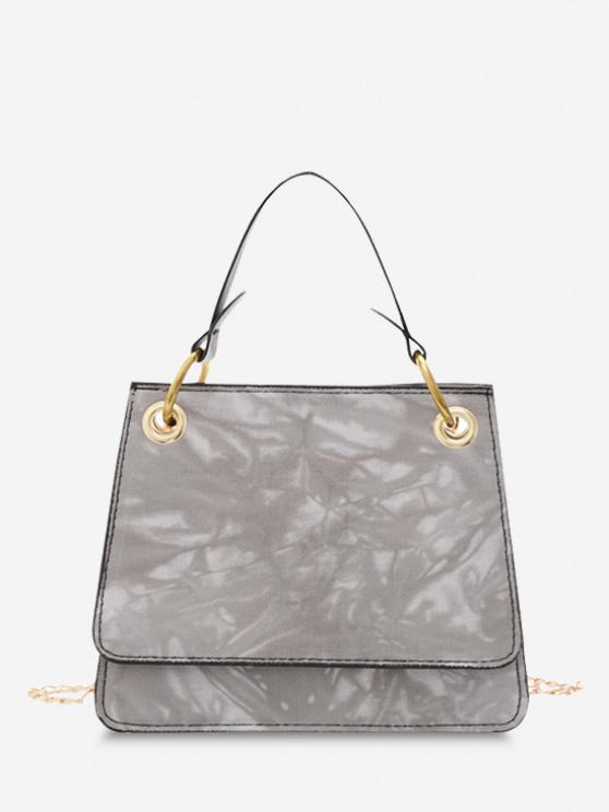 buy Tie Dye Dual Handle Square Crossbody Bag - GRAY CLOUD