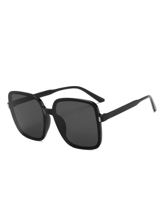 online Square Oversized Vacation Sunglasses - BLACK