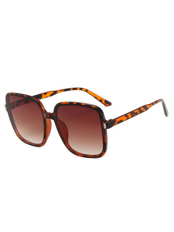 hot Square Oversized Vacation Sunglasses - LEOPARD