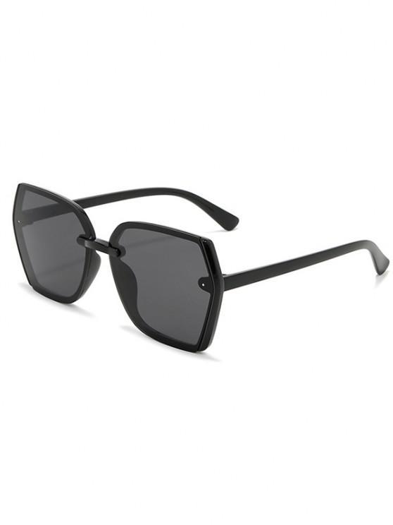Brief Outdoor Irregular Sunglasses - أسود