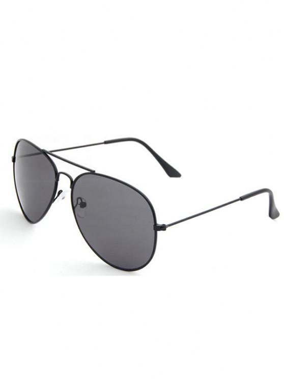 Oval Shape Streetwear Pilot Sunglasses - أسود