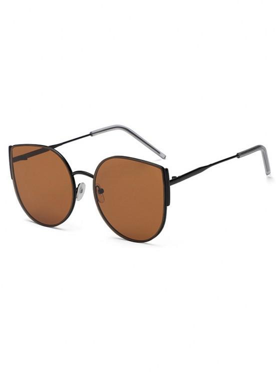 fashion Metal Frame Streetwear Sunglasses - BROWN