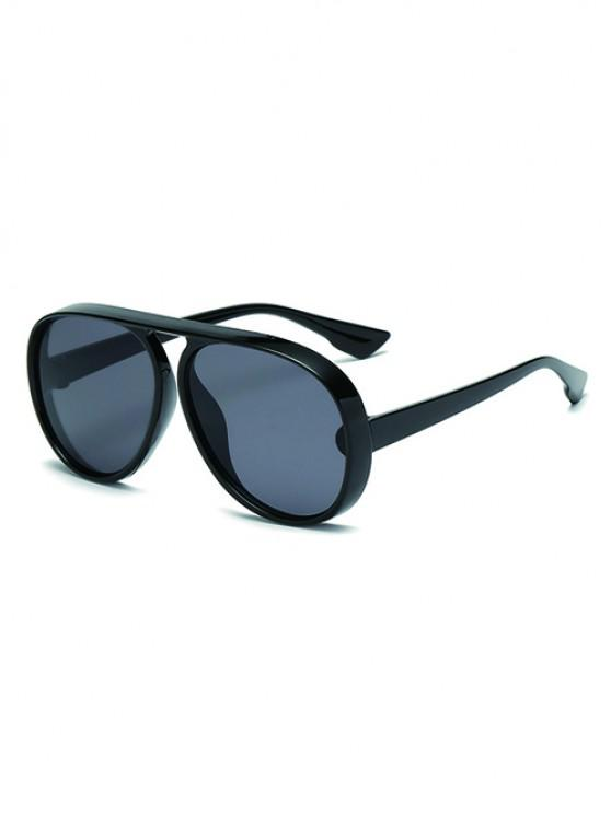 Oversized One-piece Anti UV Sunglasses - أسود