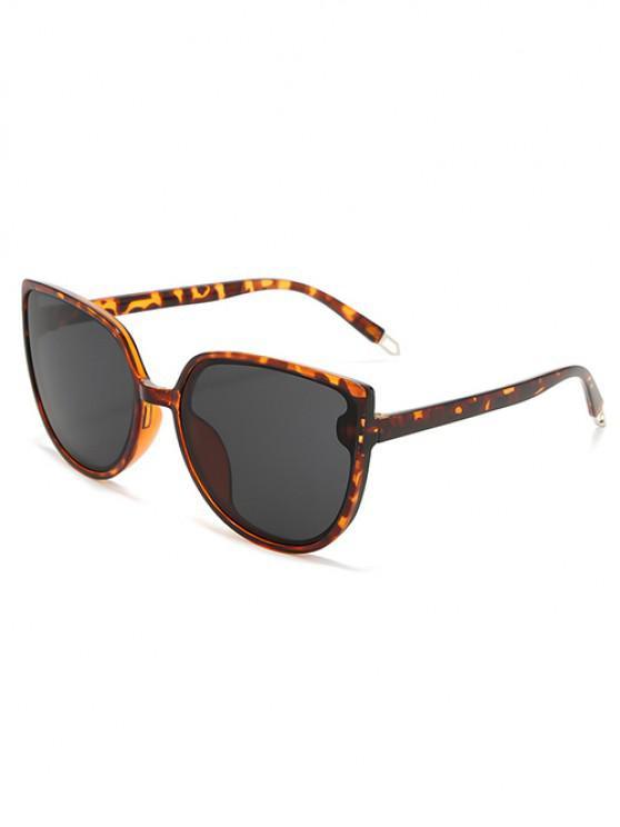 trendy Oversized Catty Eye Sunglasses - LEOPARD
