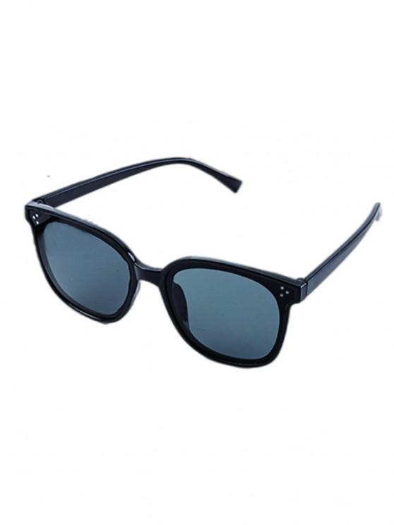 Square Frame UV Protected Sunglasses - أسود