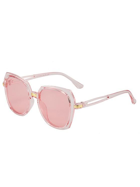 unique Hollow Out Temple Irregular Sunglasses - LIGHT PINK