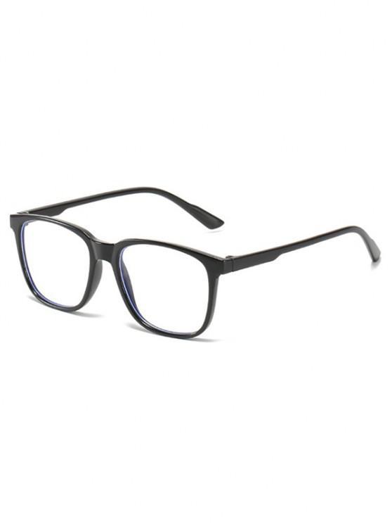 hot Basic Full Square Frame Lightweight Glasses - BLACK