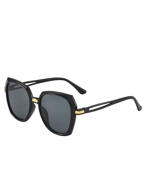 sale Hollow Out Temple Irregular Sunglasses - BLACK