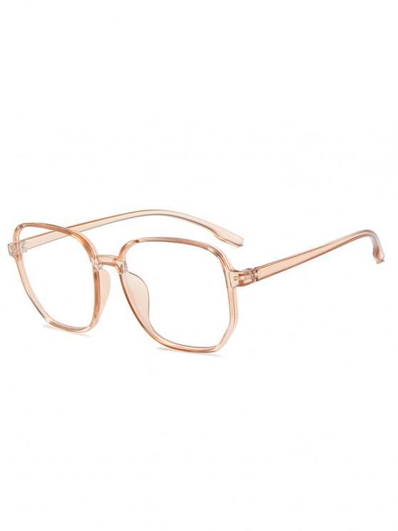 women Polygonal Frame Thin Rim Lightweight Glasses - APRICOT