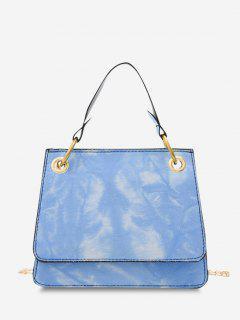 Bolsa Cruzada Cuadrada Y Teñido - Azul Marino