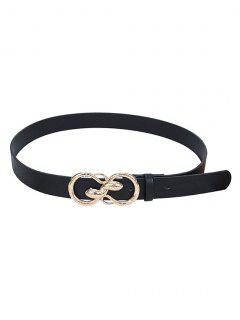 Twining Snake Buckle Trousers Belt - Black
