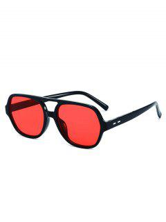 Plastic Frame Outdoor Streetwear Sunglasses - Black