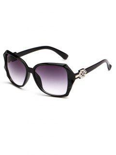 Ombre Embellished Temple Sunglasses - Black