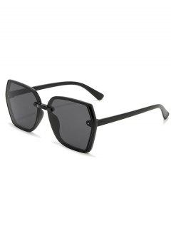 Brief Outdoor Irregular Sunglasses - Black