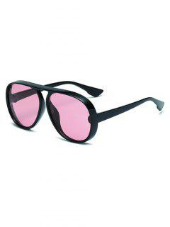 Oversized One-piece Anti UV Sunglasses - Rose