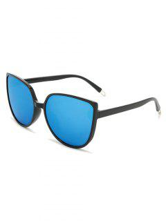 Oversized Catty Eye Sunglasses - Deep Sky Blue