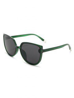 Oversized Catty Eye Sunglasses - Jungle Green