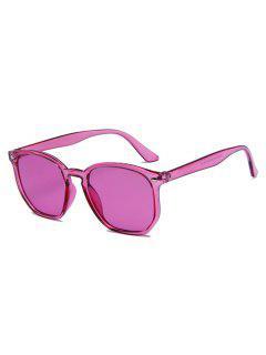 Translucent Irregular Frame Pink-Tinted Sunglasses - Light Pink
