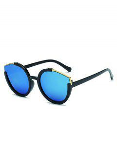 Metal Splicing Frame Sunglasses - Crystal Blue