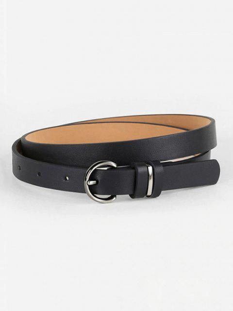shops D-ring Buckle Streetwear PU Belt - BLACK  Mobile
