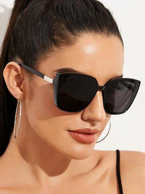 Kurze Quadratische Sonnenbrille - Schwarz  Mobile
