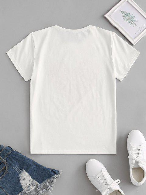 shops Love Heart Graphic Tee - WHITE S Mobile