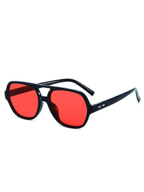 chic Plastic Frame Outdoor Streetwear Sunglasses - BLACK  Mobile