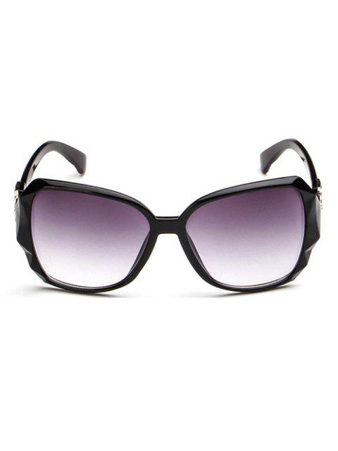 unique Ombre Embellished Temple Sunglasses - BLACK  Mobile