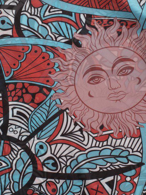 T-shirt Soleil Soleil Imprimé à Manches Longues à Ourlet en Laitue pour Bébé - Multi L Mobile