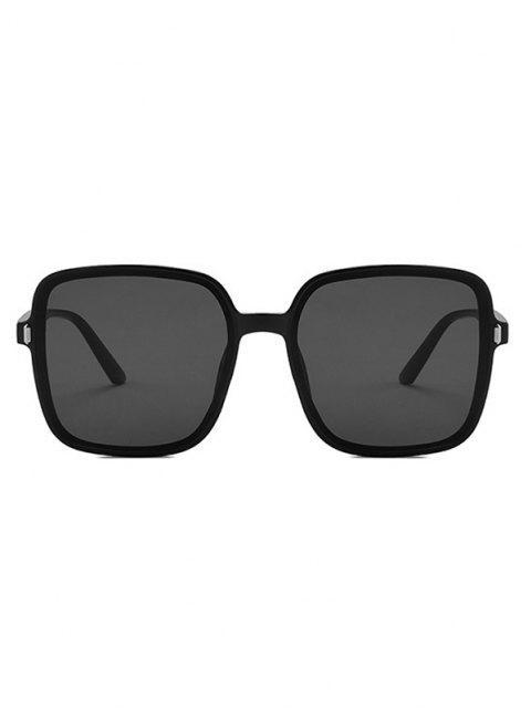 Square Oversized Vacation Sunglasses - أسود  Mobile