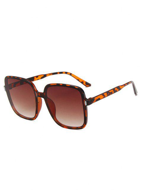 hot Square Oversized Vacation Sunglasses - LEOPARD  Mobile