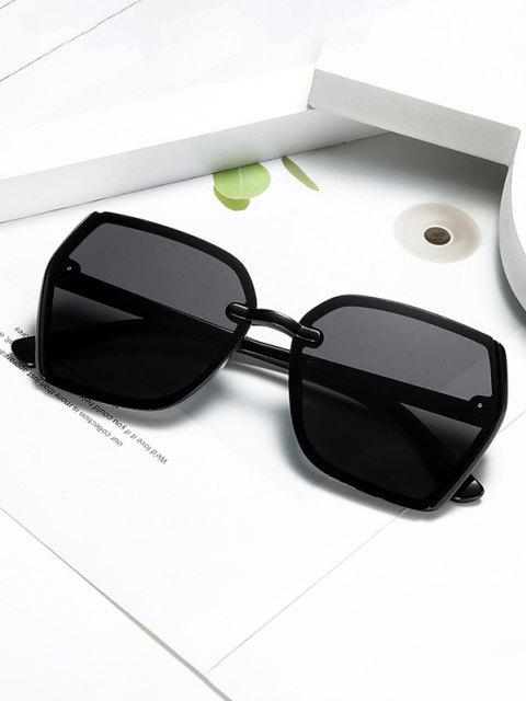 outfit Brief Outdoor Irregular Sunglasses - BLACK  Mobile