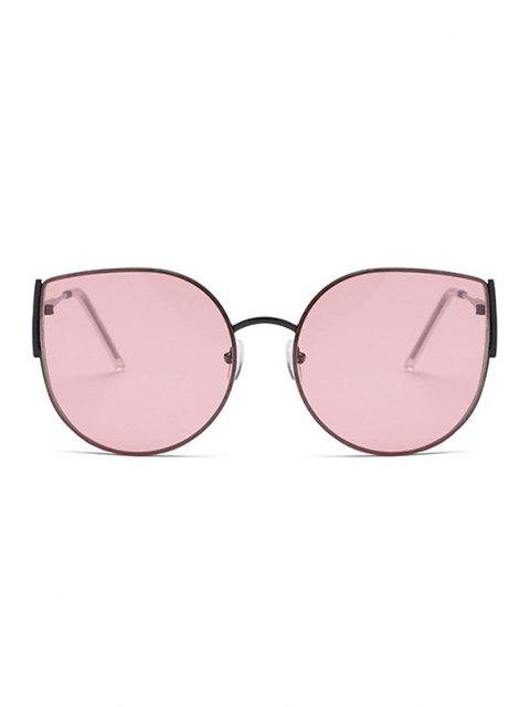 chic Metal Frame Streetwear Sunglasses - LIGHT PINK  Mobile