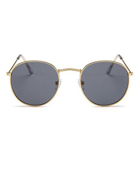 hot Brief Metal Circular Sunglasses - CHAMPAGNE GOLD  Mobile