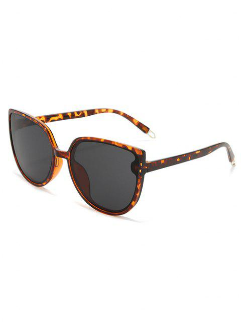 trendy Oversized Catty Eye Sunglasses - LEOPARD  Mobile