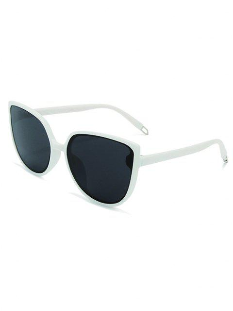 fashion Oversized Catty Eye Sunglasses - MILK WHITE  Mobile