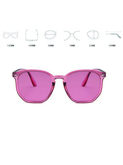 半透明の不規則なフレームピンクのティッシュサングラス - ライトピンク  Mobile