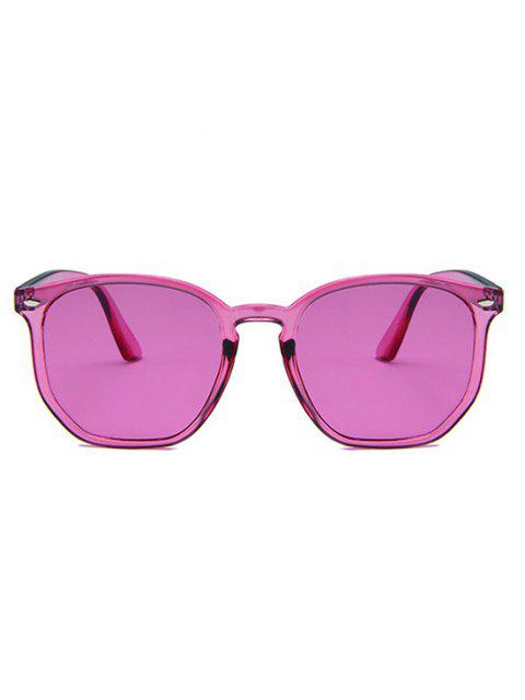 Translucent Irregular Frame Pink-Tinted Sunglasses - وردي فاتح  Mobile