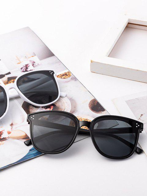 shop Square Frame UV Protected Sunglasses - BLACK  Mobile
