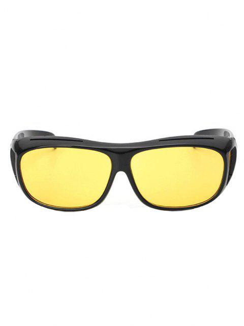 Outdoor Windproof Wrap Sunglasses - قضبان ذهبية  Mobile