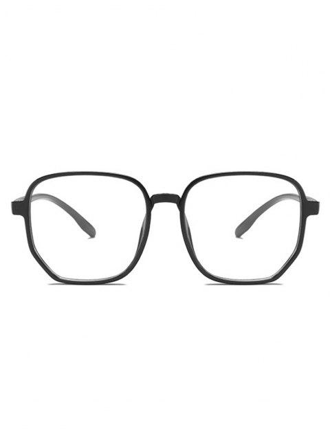 affordable Polygonal Frame Thin Rim Lightweight Glasses - BLACK  Mobile