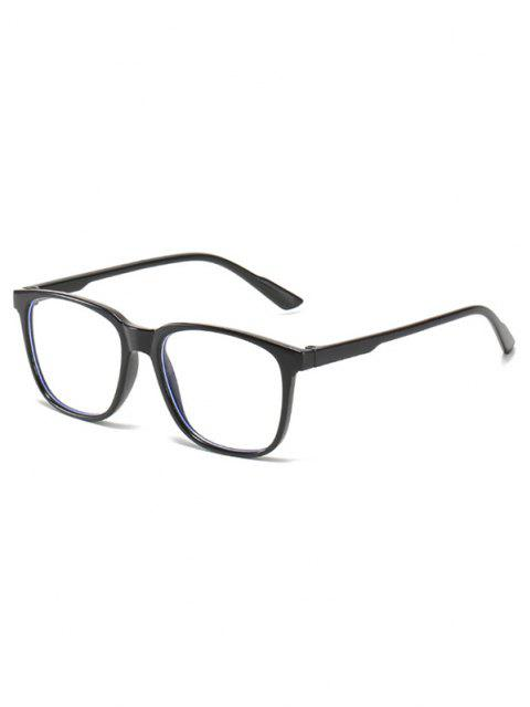 hot Basic Full Square Frame Lightweight Glasses - BLACK  Mobile