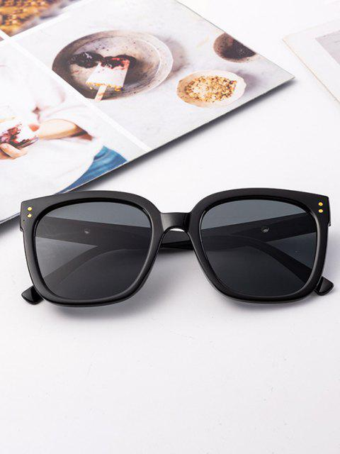 outfit Square Frame Wide Arm Stud Sunglasses - BLACK  Mobile