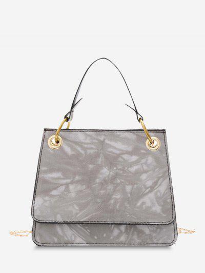 Tie Dye Dual Handle Square Crossbody Bag - Gray Cloud