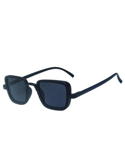 Retro Solid Square Sunglasses - Black